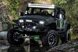 monster jeep jk black green monster energy jeep jk offroad build carid com gallery