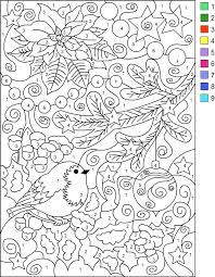 s free coloring pages color by number winter coloring