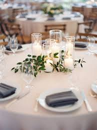 affordable wedding centerpiece idea candles romantic