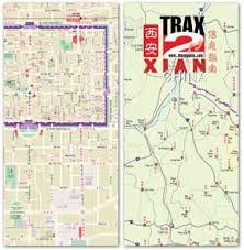 map of xi an xian map shaanxi map with localized xian