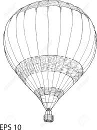 air balloon vector sketch up line ilustraciones vectoriales