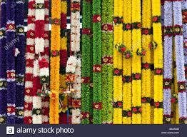 hindu garland indian garland stall stock photos indian garland stall stock