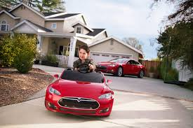 kid play car tesla for kids model s battery powered ride on car radio flyer