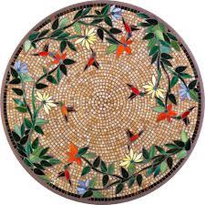 dining room caramel hummingbird mosaic bistro table for wonderful