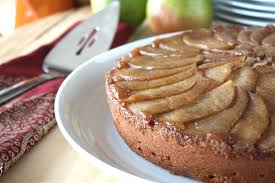 hello pears spiced pear upside down cake dessarts