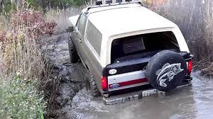 Ford Diesel Trucks Mudding - 4bt cummins diesel bronco mudding youtube