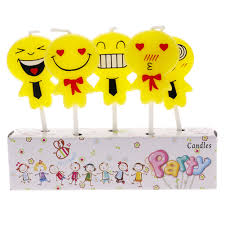 celebration emoji 5pcs cute emoji cake candles birthday party celebrations