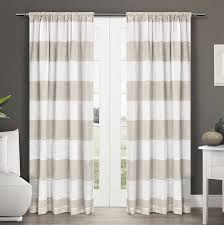 Rugby Stripe Curtains by Amazon Com Exclusive Home Curtains Darma Linen Sheer Rod Pocket