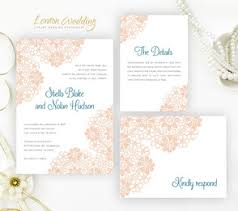 Blush Wedding Invitations Lace Wedding Invitations Lemonwedding