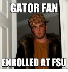 Florida State Memes - gator fan rolled at fsu qu fsu florida state university meme on