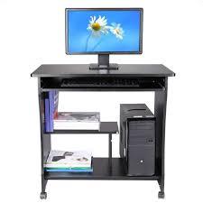 bureau ordinateur bois table ordinateur 80cm bois pr clavier tablette noir achat vente