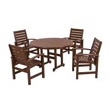 Patio Furniture Dining Sets - safavieh arvin gray wash 5 piece patio dining set pat7001b the