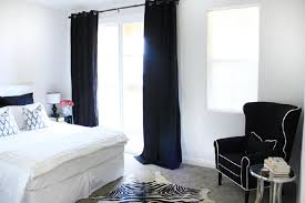 Black And White Modern Curtains Modern Home Bedrooms With Black Curtains