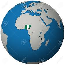 Nigeria Map Africa by Nigeria Territory With Flag On Map Of Globe Stock Photo Picture