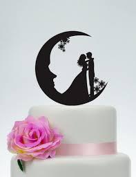 moon cake topper wedding cake topper moon cake topper acrylic custom cake topper