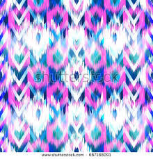 seamless ikat pattern abstract background textile stock vector