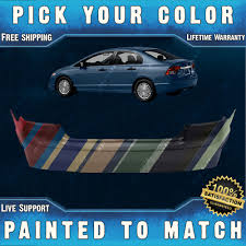 new painted to match rear bumper cover replacement 2006 2011