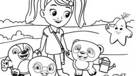 Kids Coloring Page Ruff Ruff Tweet And Dave Sprout Coloring Sprout Coloring Pages