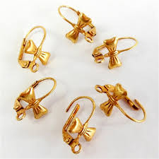 gold earring backs ear wires eurowires lever back vintage gold russian gold bow
