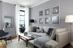 gray interior spacious apartment in sweden with living room painted gray