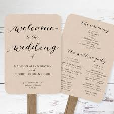 wedding fan programs templates wedding ideas awesome one sided wedding program template image