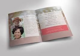 Funeral Program Designs Modern Funeral Program Template Graphicmule