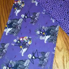 skellington fabric table runner from designsbysugarbear