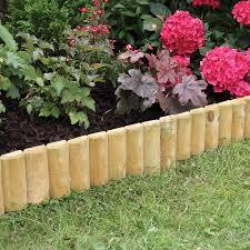 fixed log roll edging 15 x 100cm ideal for border edges flower
