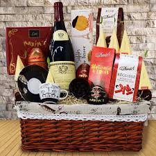 wine basket delivery tea gift baskets yorkville s usa