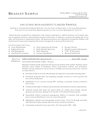 Resume Office Manager Cv Profile Example Project Manager