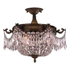 French Empire Chandelier Lighting French Empire Basket Style Collection 3 Light Antique Bronze And