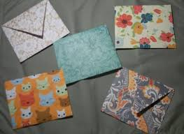 whimsically homemade scrapbook paper envelopes