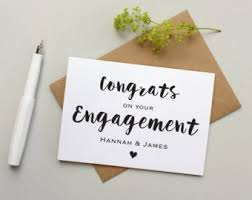 happy engagement card engagement chevron card engagement card personalised