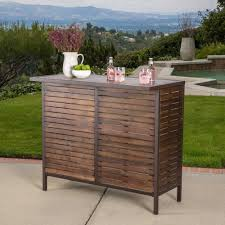 Acacia Wood Outdoor Furniture Durability by Milos Outdoor Acacia Wood Bar Table By Christopher Knight Home