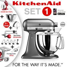 Kitchenaid Artisan Mixer by Kitchenaid Artisan Stand Mixer Set 1 Medallion Silver Ka
