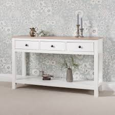white console table with drawers console table 3 drawers with shelf laura james