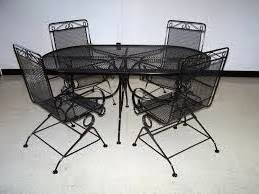 Black Wrought Iron Patio Furniture Sets Mainstays Jefferson Wrought Iron 3 Bistro Set Black Seats