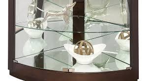 Corner Cabinet With Glass Doors 680603 Howard Miller Espresso Finish Curved Glass Doors Corner