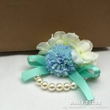 flowers free shipping blue wedding wrist flower performance etiquette