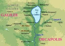 sea of map galilee map locator