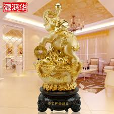 honghua accepts the wealth auspicious lucky gold elephant craft