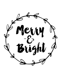 merry bright free printable weekend craft