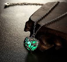 green heart necklace images Heart of the forest glowing necklace magick jewelry png