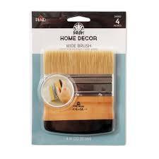 folkart home decor 4 in chalk finish wide brush 34910 the home