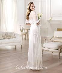 casual wedding dresses with sleeves informal casual sheath v neck sleeve chiffon garden