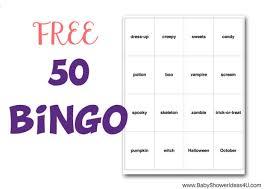 free halloween bingo cards x50 magical printable