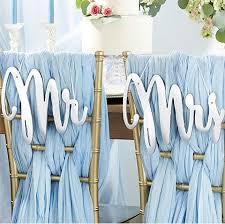 mr mrs wedding table decorations silver mirror mr mrs chair signs mr mrs wedding decoration