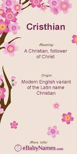 meaning of cristhian modern spelling of christian which is an