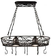 kitchen pot racks with lights pot rack light fixture