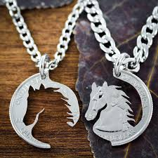 necklace best friend images Best friend horse necklaces equestrian jewelry hand cut coin by jpg